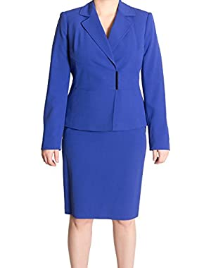 Calvin Klein Women's Atlantis Blue Skirt Suit Set
