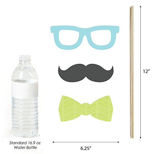 Amazon.com: Dashing Little Man Mustache Party - Photo Booth Props ...