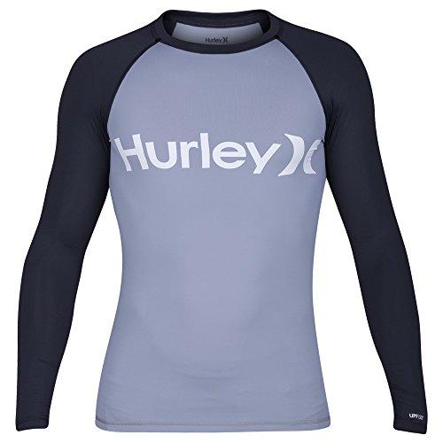 Hurley Mens Long Sleeve Rashguard MRG0000880,Wolf Grey,L