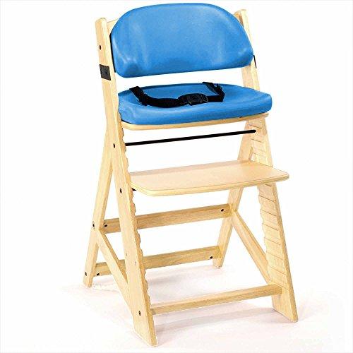 Natural Wood Aqua Liquid (Keekaroo Height Right Kids High Chair with Comfort Cushions, Natural/Aqua)