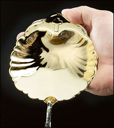 Brass Baptismal Shell - Baptismal Shell with Spout