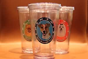 Jack Russell Terrier Dog Clear Insulated Tumbler Grande To-Go Cup