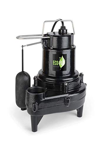 ECO-FLO Products EFSEW50A1 Sewage Pump, Black - Sewer Ejector Pumps