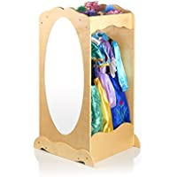Guidecraft Dress Up Center Natural - Armoire, Dresser Kids' Furniture