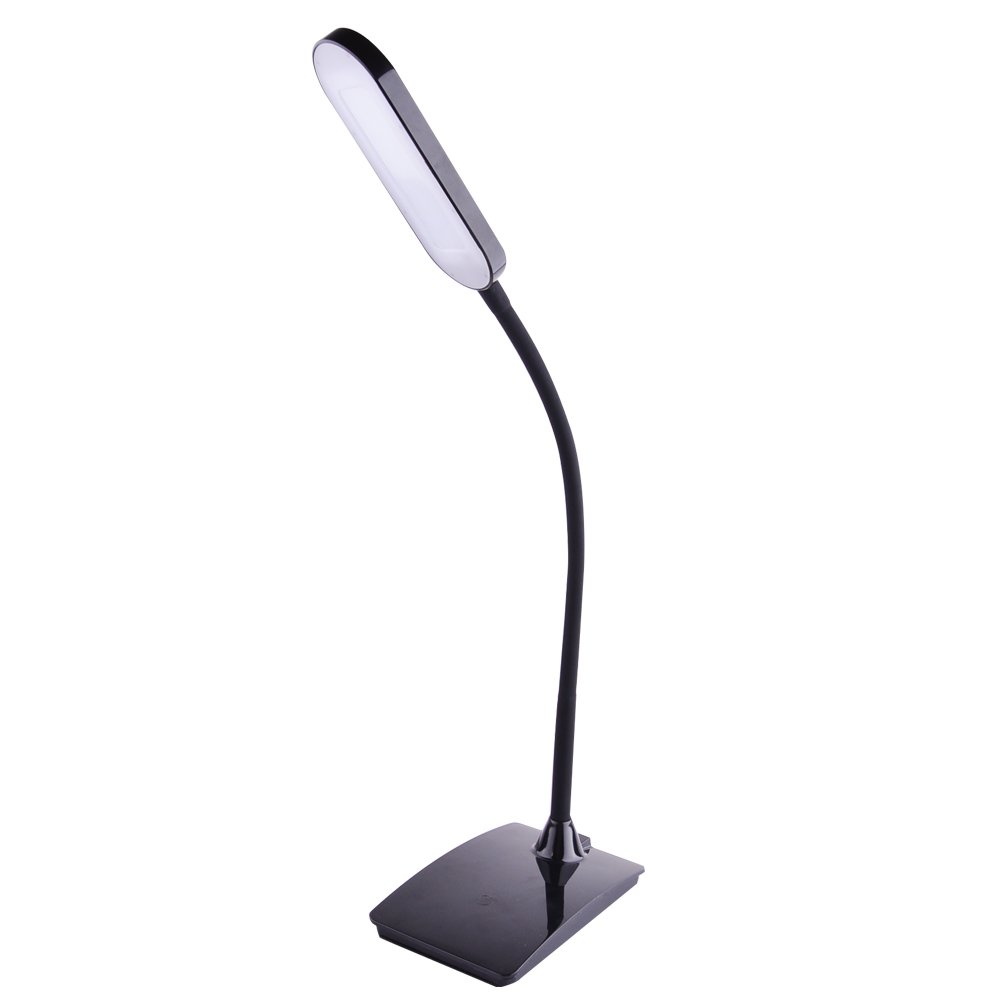 TopOne LED Desk Lamp, Flexible Gooseneck Table Lamp 6W, 3 Dimming Levels, Eye-Care (Black)