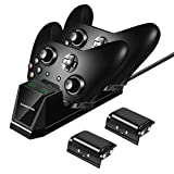 Xbox One Controller Charger with 2 x 1200mAh Rechargeable Battery Packs, Shumeifang Xbox One/One S/One Elite Dual Charging Station for 2 Xbox Wireless Controllers Charge Kit - Version #2