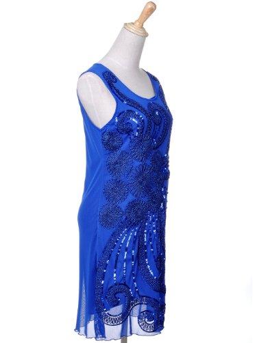 Détail Anna Stlerische Sun kaci Fleur Sequin Ray Robe Femme Mini Corde Party 1xqw8r16p