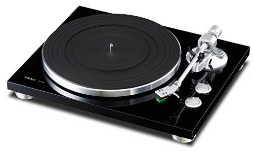 Teac TN-300-B HiFi-Plattenspieler (Riemenantrieb, 33/45rpm, USB-Ausgang für Mac/PC, Line/Phono Umschalter) schwarz