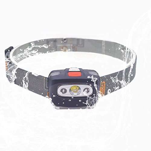 LED Headlamp 4 modes Bright 600 Lumens (2.6 oz) Lightweight For Running, Reading, Fishing, Hunting, Dog Walking, Hiking, Biking and -,Outdoor Camping Waterproof Lights, Not included AAA Batteries (Flashlight Powered Squeeze)