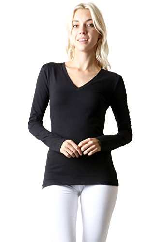 Zenana Outfitters Basic V-Neck Long Sleeve TEE