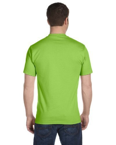6 Value T-shirt - Hanes Men's Comfortsoft 6 Pack Crew Neck Tee - Lime - 2XL