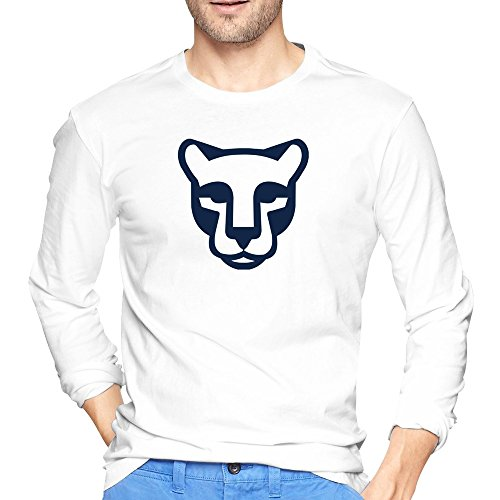 Men's Schedule Mascot Penn State Nittany Lions Tshirts White Long Sleeve