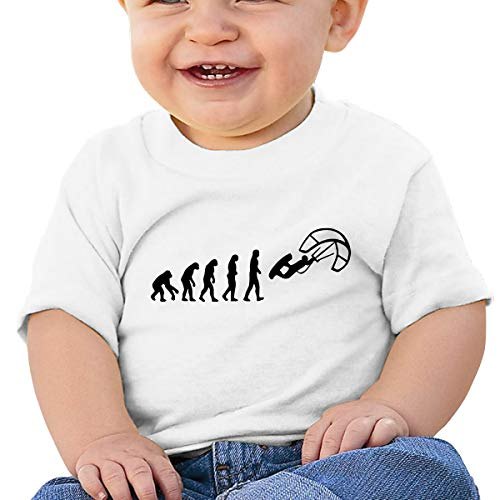 (LLiYing-D Kite Surfing Evolution Kite Boarding 6-24 Months Baby Boys & Girls Fashion T-Shirt White)