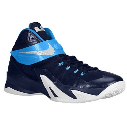 Nike Mens Zoom Soldier VIII TB Basketball Shoes Midnight Navy/Photo Blue 653648-405 Size 8.5
