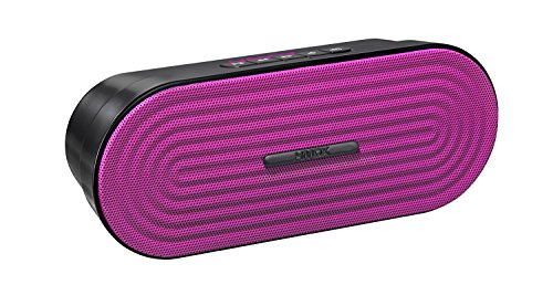 HMDX Rave Portable Rechargeable Wireless Speaker, Pink