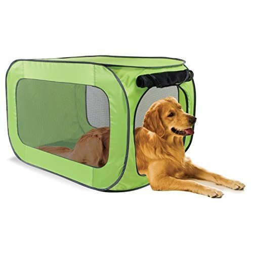 Sport Pet Designs Kennel Pro Pop Open, Large, Colors May Vary (Popup Dog Crate)