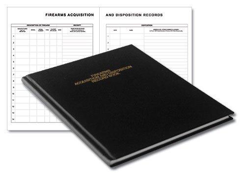 BookFactory Gun Log Book - 120 Pages, Black Cover, Smyth Sewn Hardbound, 8 7/8 x 11 1/4 (LOG-120-GUN-02-LKT35)