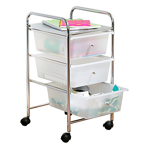 Honey-Can-Do 3-Drawer Plastic Storage Cart on Wheels
