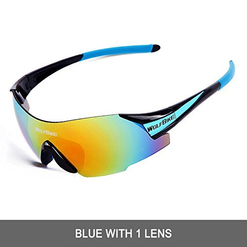 WOLFBIKE UV400 Cycling Glasses Mountain Bike MTB Sunglasses Eyewear - ONE Lens (NEW black - Outfit Sunglasses