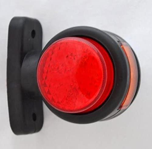4/x lado Outline Marcador Lights l/ámpara 12/V Trailer Van Truck Caravan Chassis Caravana Naranja Blanco Rojo