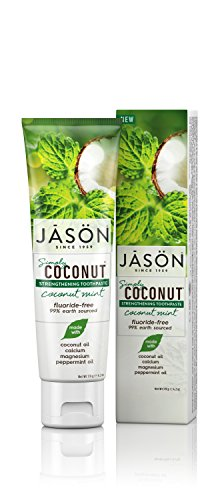 JASON Simply Coconut Strengthening Coconut Mint Toothpaste, 4.2 oz. (Packaging May Vary) (Coconut Mint Toothpaste)