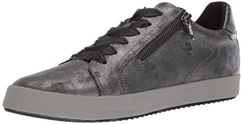 - Geox Women's Blomiee 3 Fashion Sneaker, Anthracite/Dark Grey, 38 Medium EU (8 US)