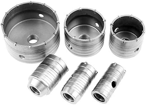 HYY-YY 10 Piece TCT Drill Bit Set Hole Saw Drill Bit Wall Drill Bits, 35mm, 40mm, 50mm, 65mm, 82mm, 110mm
