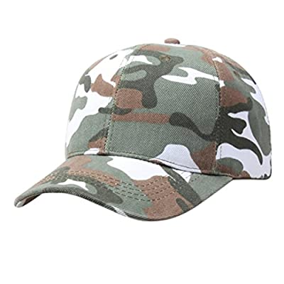 Challyhope Fashion Baseball Cap Adjustable Outdoor Camo Tactical Military Cadet Hat Women Men by Challyhope