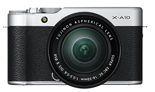 Fujifilm 16534352 X-A10 Compact System Camera with XC16 - 50 mm Kit - Silver