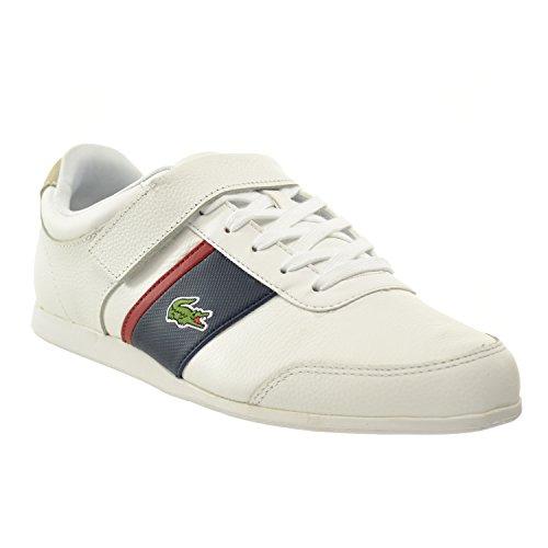 Lacoste Embrun Urs Spm Chaussures En Cuir / Synthétique Blanc / Bleu Foncé 7-29spm2020-x96