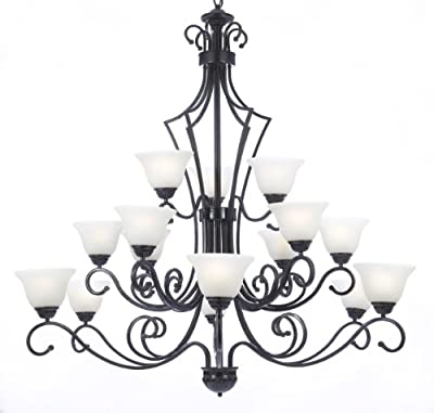 "New! Foyer / Entryway Wrought Iron Chandelier H51"" X W49"""