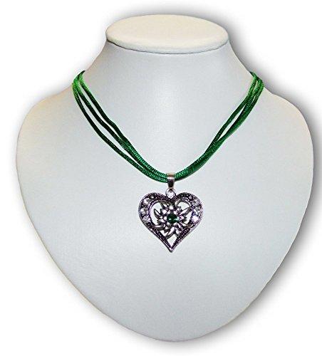 Trachtenkette Sira mit Herz Grün