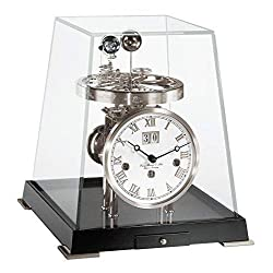 Qwirly Store: German Tellurium V German-Made Astronomical Clock by Hermle in Nickel