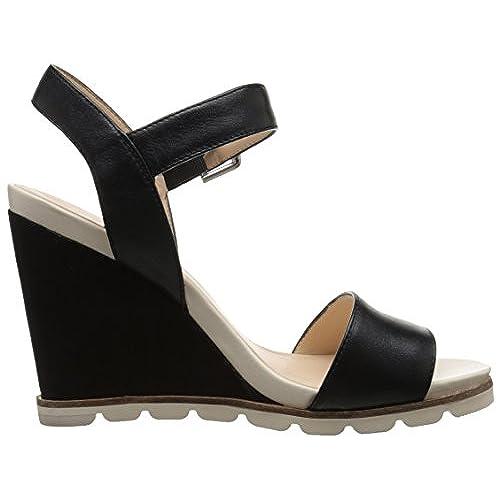 Nine West Leather Abalene platform loafer pumps Leather high