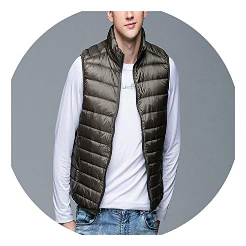 (Winter Ultra-Thin wrap Vest S-3XL Vest Sleeveless Vest Man,MV135AG,S)
