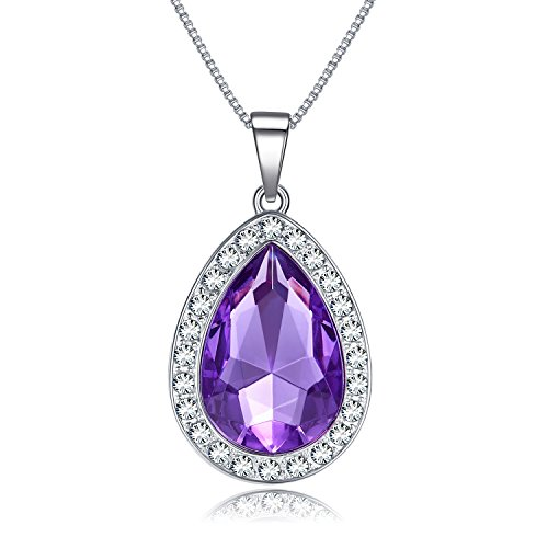 Vcmart Amulet Teardrop Amethyst Necklace Fashion Jewelry Gift
