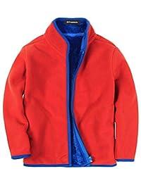 MFrannie Boys Polar Fleece Zip Up Loose Kids Spring Winter Jacket
