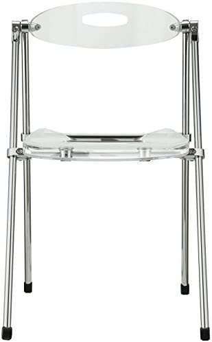 Modway Telescope Acrylic Folding Kitchen and Dining Room Chair