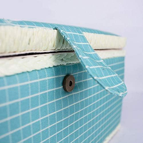 Nicknocks Sewing Kits Storage Basket,Sewing Basket,Sewing Box,Sewing Basket Sewing Kits Storage Box with Removable Tray Built-in Pin Cushion Interior Pocket