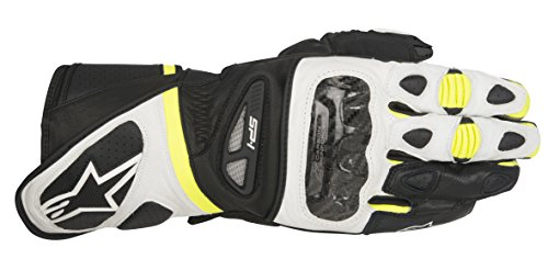 Alpinestars SP-1 Men's Street Motorcycle Gloves - Black/White/Yellow / Small