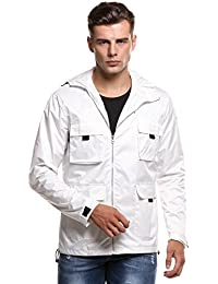 Men's Fahison Lightweight Rainwear Active Outdoor Hoodie Waterproof Rain Jacket