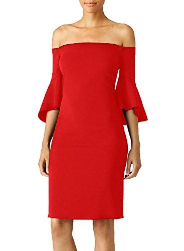 Buy bell sleeve evening dress - 4