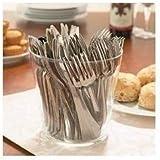 Zuvo Posate di plastica usa e getta riutilizzabili con finitura d'argento -144 pezzi- forchette coltelli cucchiai – ci crederesti che è plastica Più coriandoli da tavola