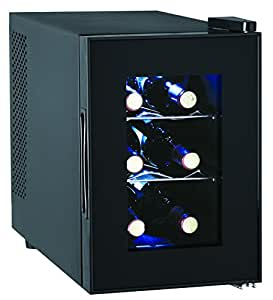6-Bottle Wine Cooler, Glass Door