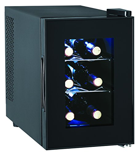 6 Bottle Wine Cooler Glass Door