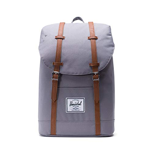 Herschel Retreat Backpack - Mochila casual unisex, Gris (Grey), 23 L