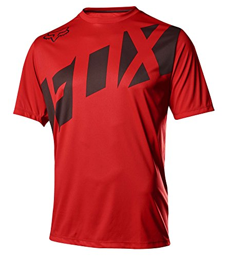 Fox Head Mens Ranger Ss Mtb Bike Jersey  Red Black  M