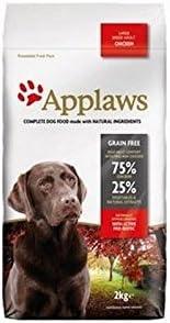 applaws Perros Forro Gallina Razas grande (2kg) (Paquete de 6)