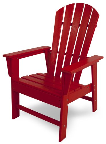POLYWOOD SBD16SR South Beach Dining Chair, Sunset Red
