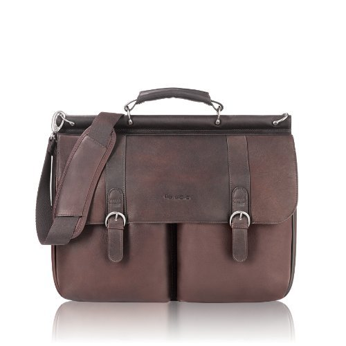 - SOLO Classic Collection Colombian Leather Executive 16 Leather Briefcase Portfolio, Dark Brown (D535-3) Office Supplies Store Online, ofice